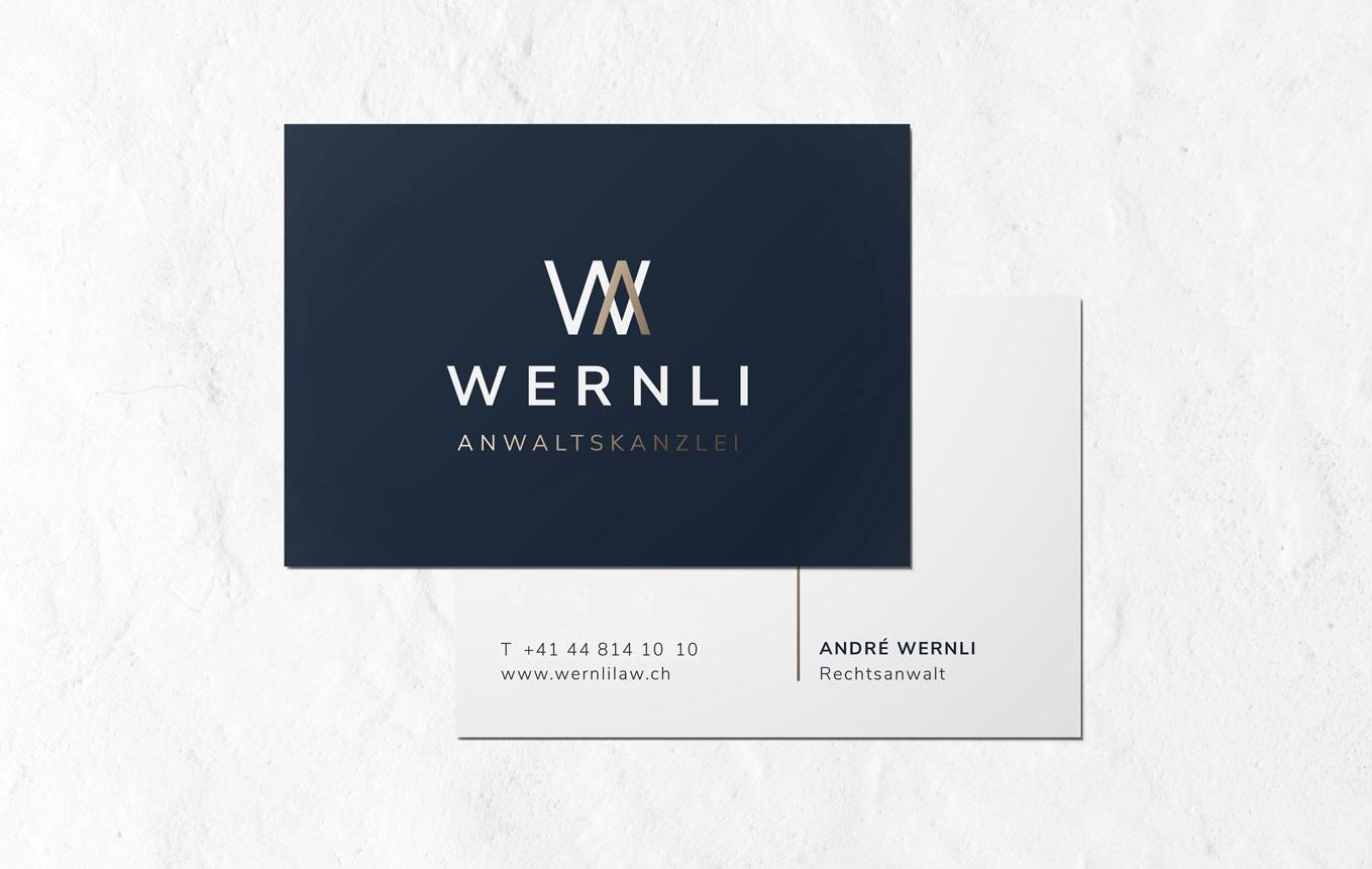 Visitenkarten Design für Anwaltskanzlei Schweiz