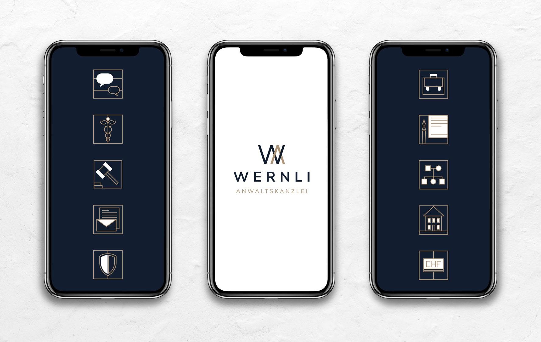 Responsive Webdesign und Icon Design Anwaltskanzlei Schweiz