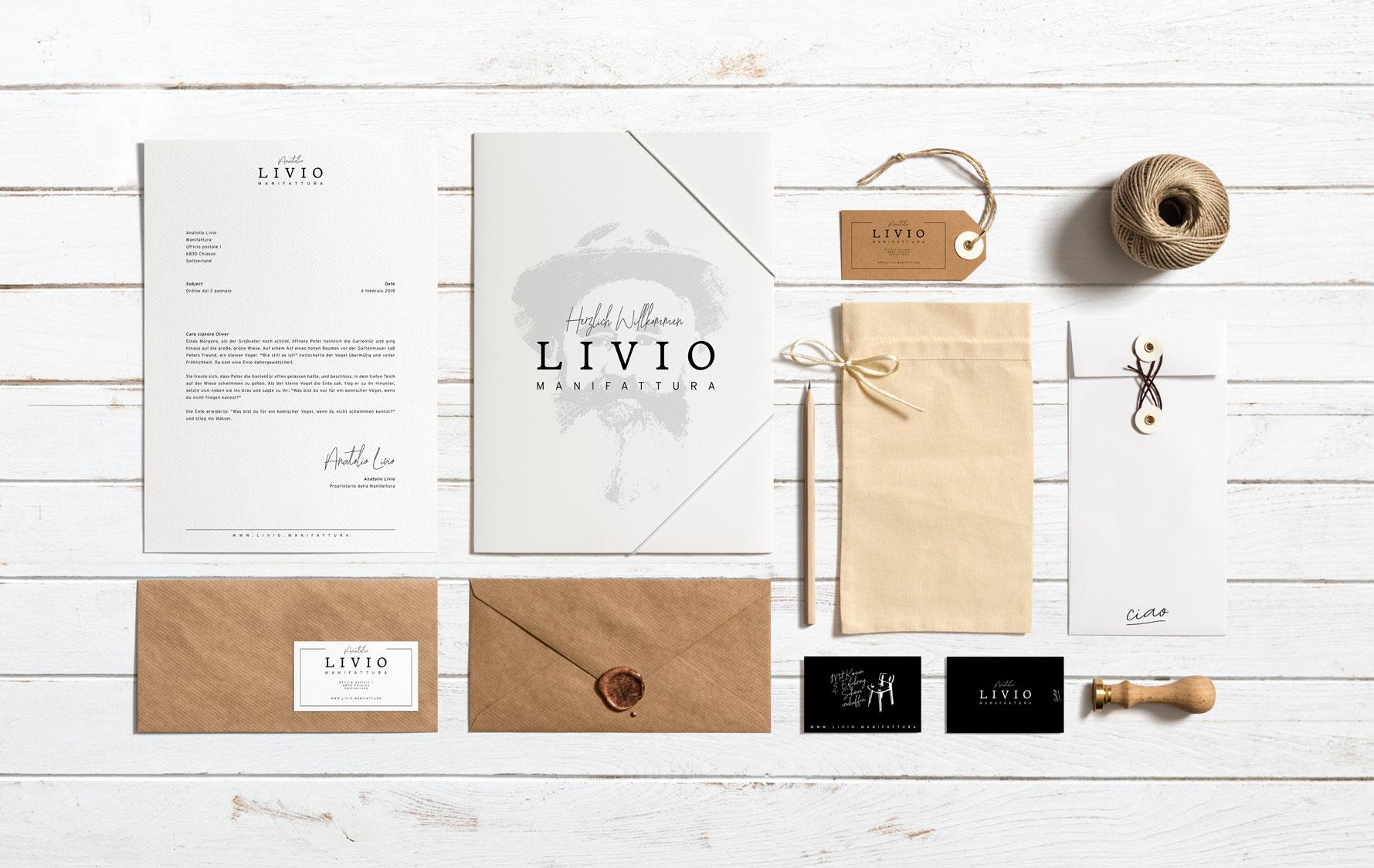 Print Design Briefe, Dokumente und Visitenkarten KMU Schweiz