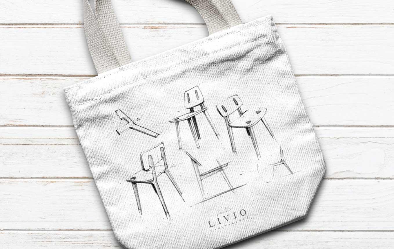 Tasche Design Merchandise Schweizer KMU Schreinerei