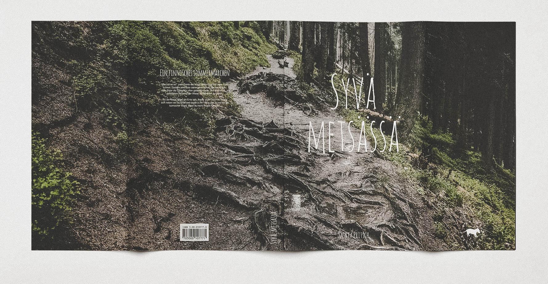 Design Vorder- und Rückseite Umschlag für Buch von Schweizer Autorin