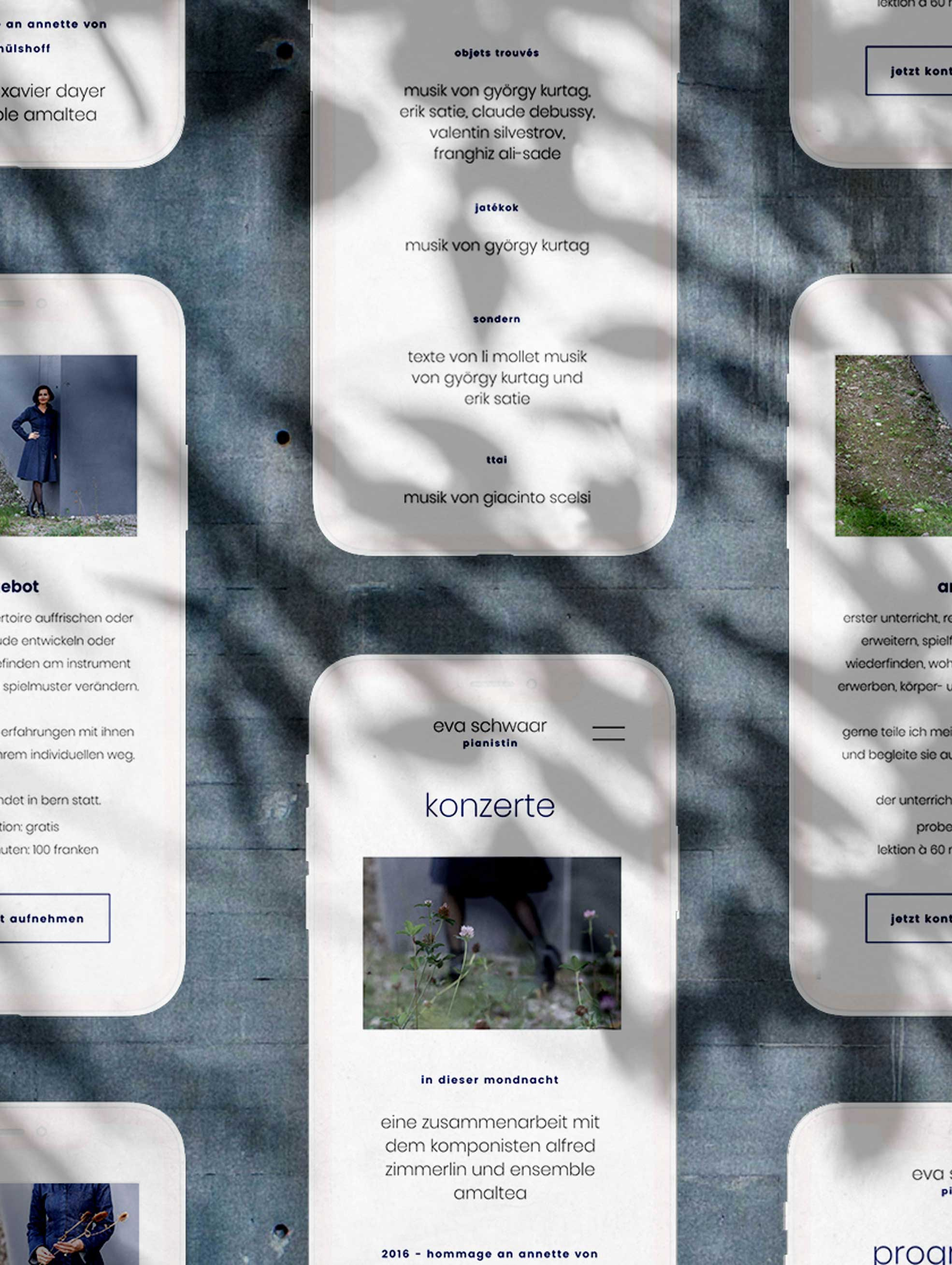 Responsive Webdesign für Webseite von Schweizer Musikerin
