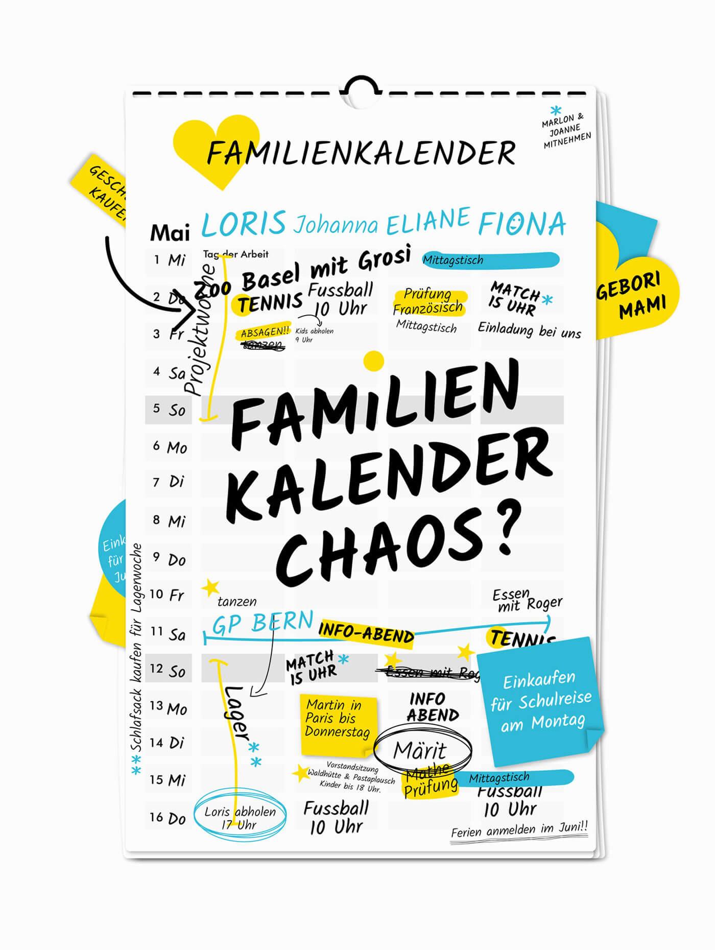 Illustration Kalender für Schweizer App