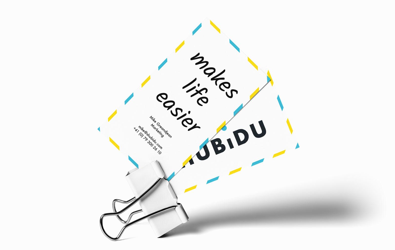 Visitenkarten Design für Schweizer App