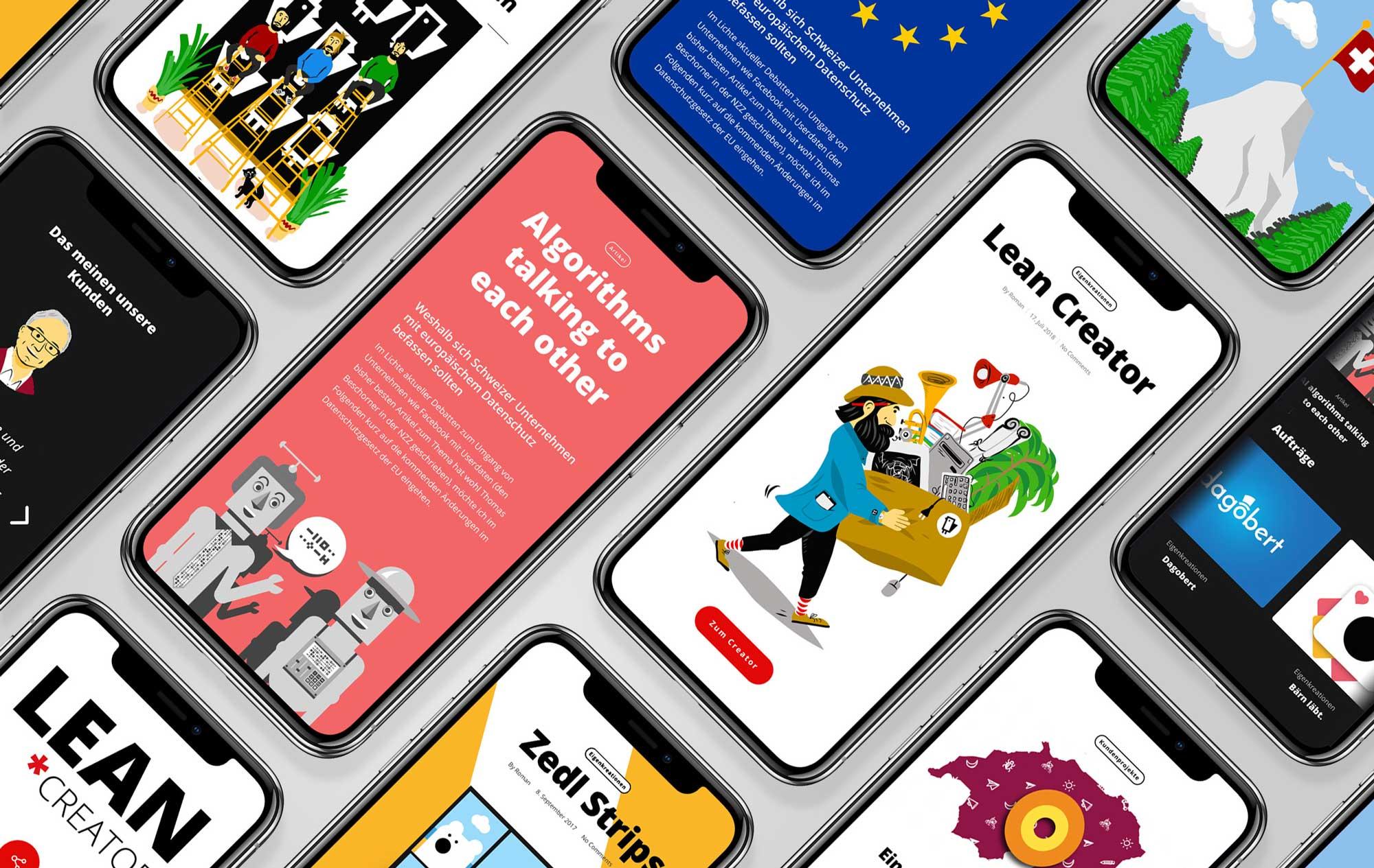 Responsive Webdesign und Illustrationen für IT Unternehmen Schweiz von Namo Agentur für Branding & Webdesign Bern