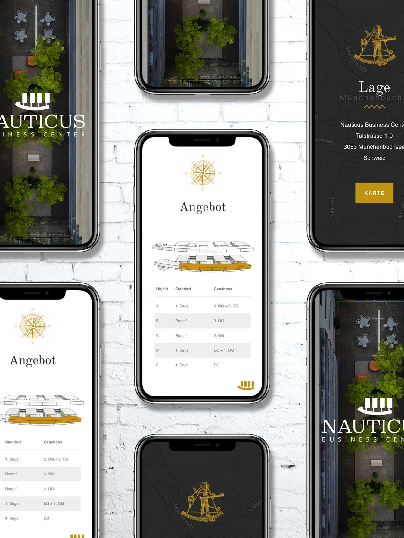 Responsive Webdesign für Verkauf von Immobilien in der Schweiz