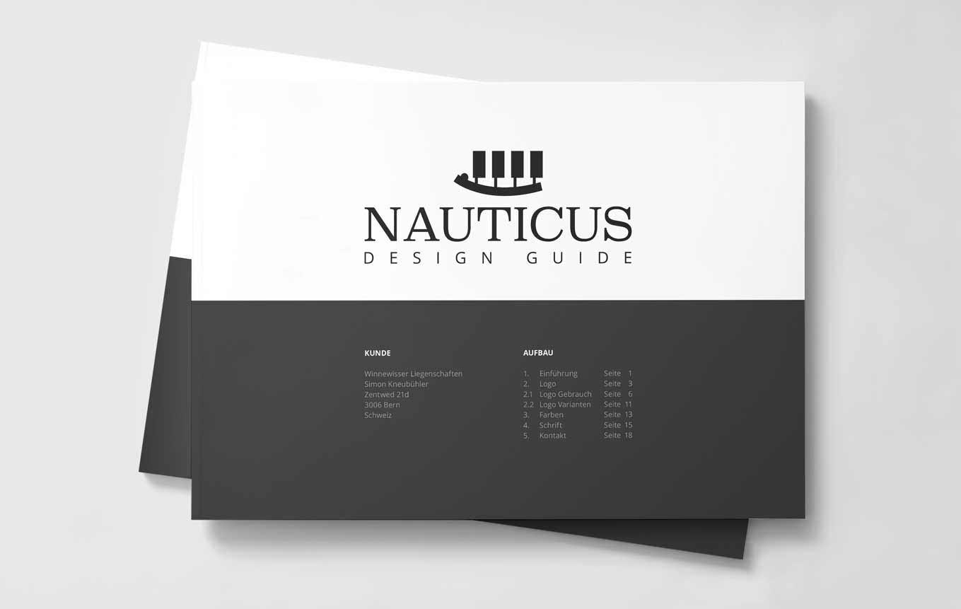Cover Design Guide für Immobilienvermarktung Firma Schweiz
