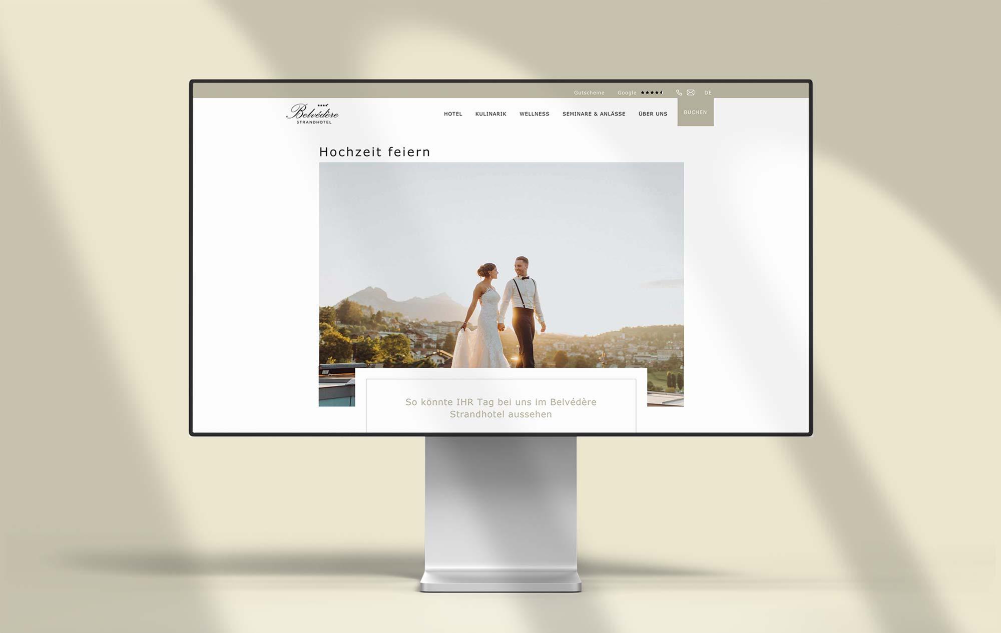 Design weddings celebrate - Development website for hotel Switzerland