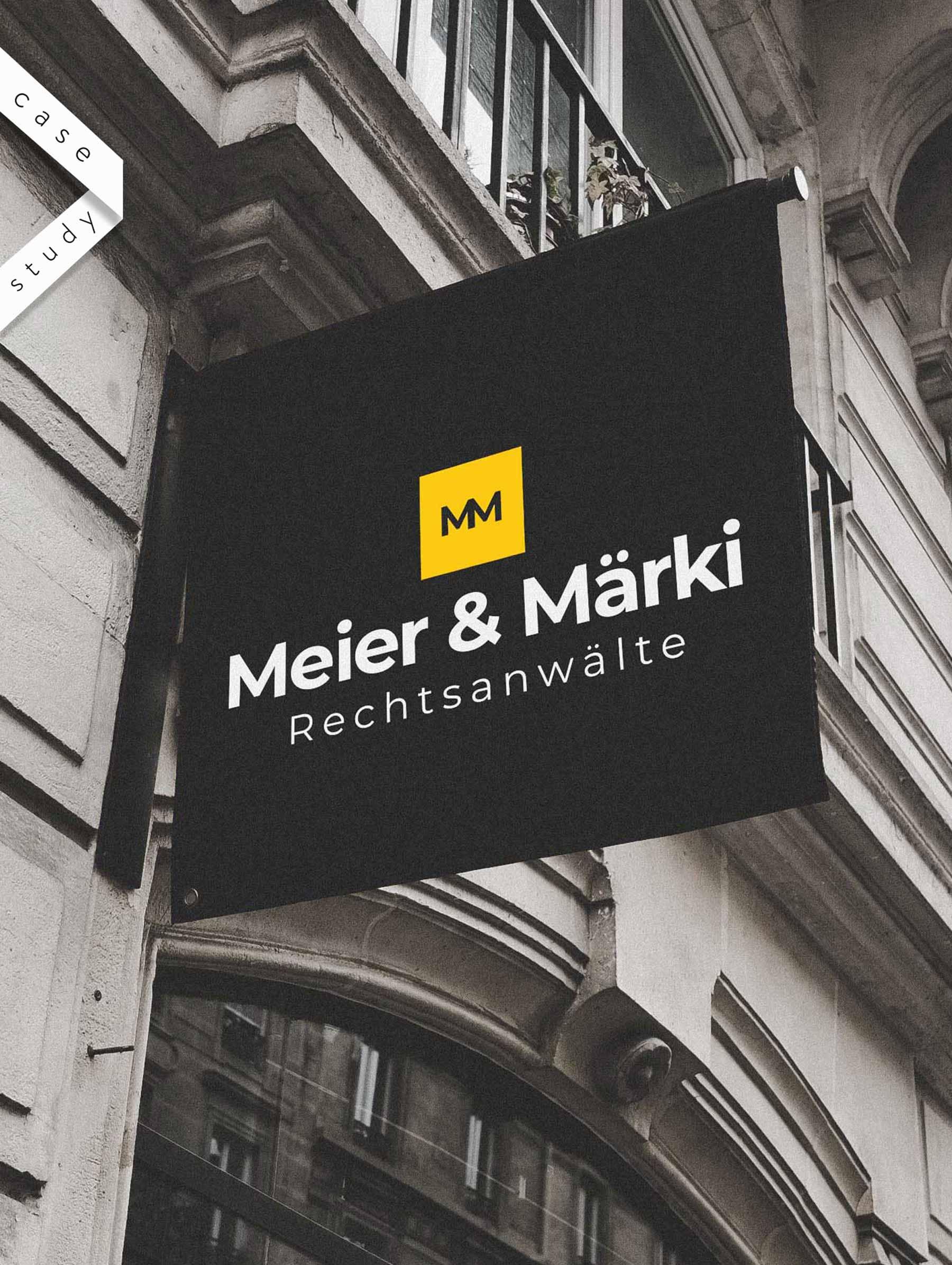 Logo Design und Beschilderung für Schweizer Anwaltskanzlei