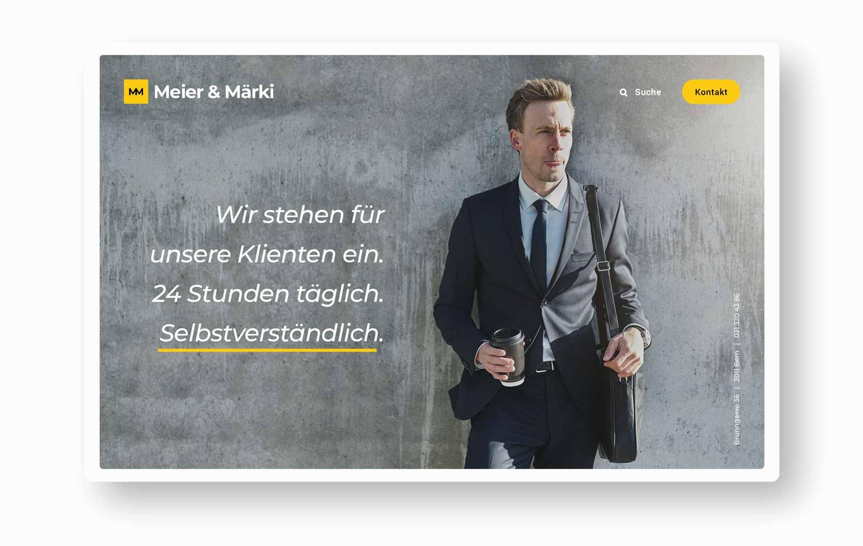 Landingpage - Webdesign Anwaltskanzlei Schweiz