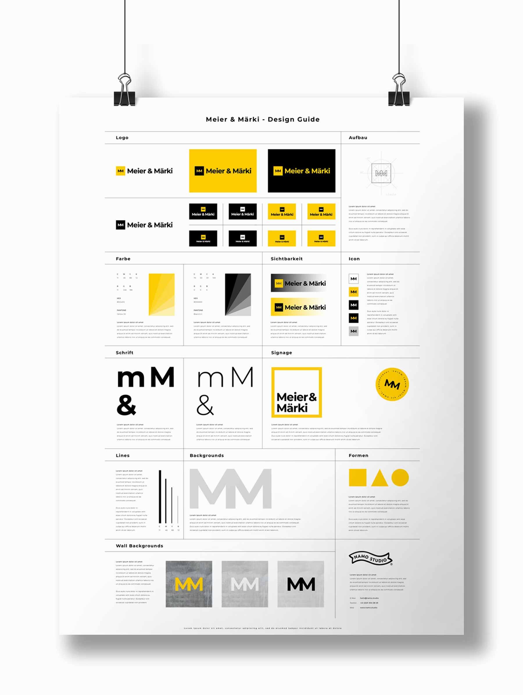 Design Guide CI/CD Marke Kanzlei Schweiz