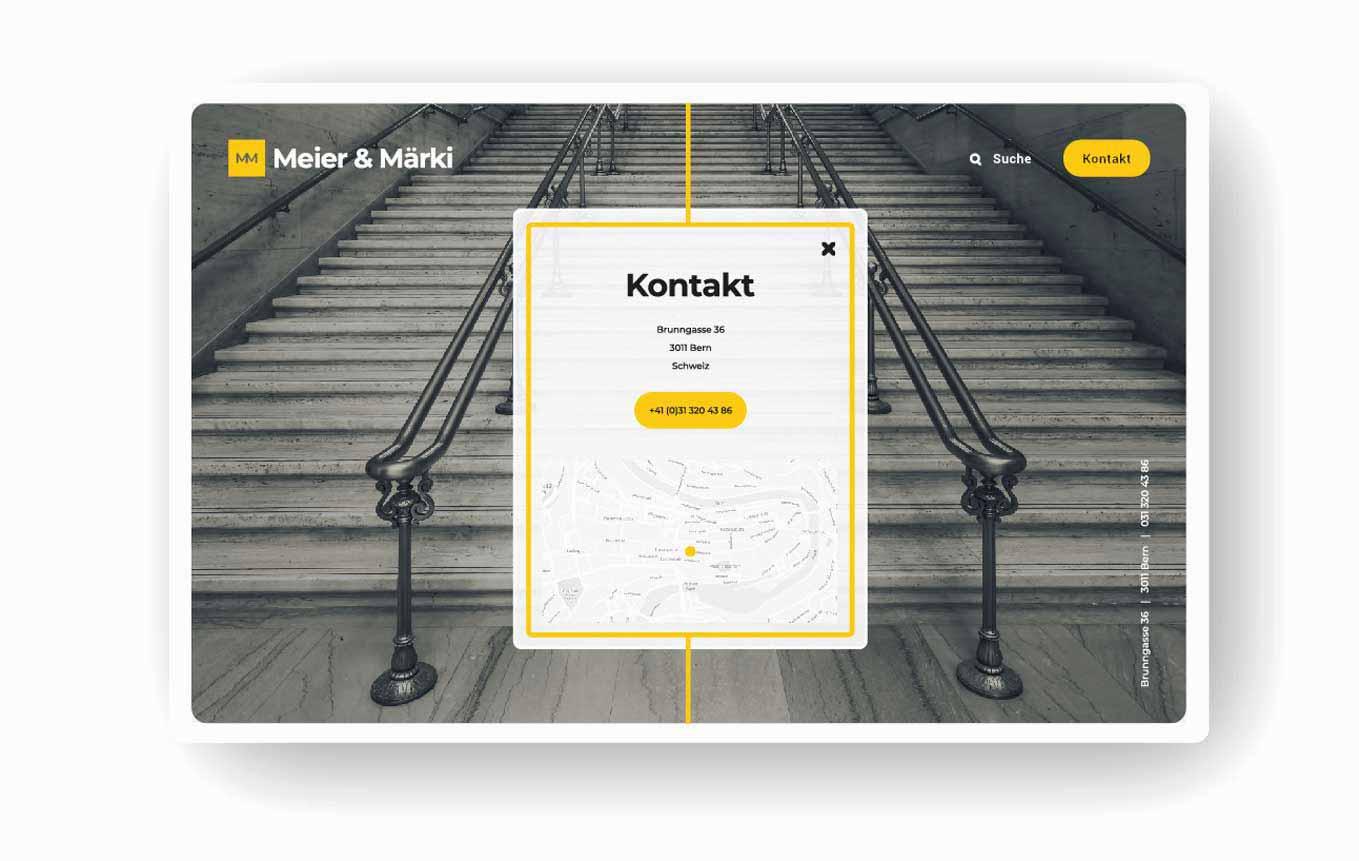 Kontakt Webdesign Anwaltskanzlei Schweiz