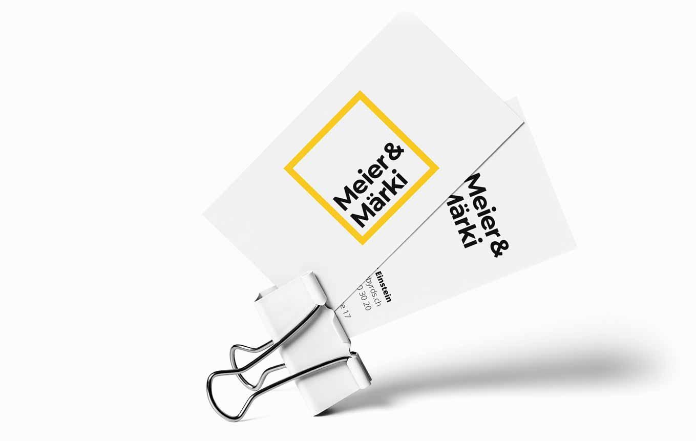 Visitenkarten Design Anwaltskanzlei Schweiz