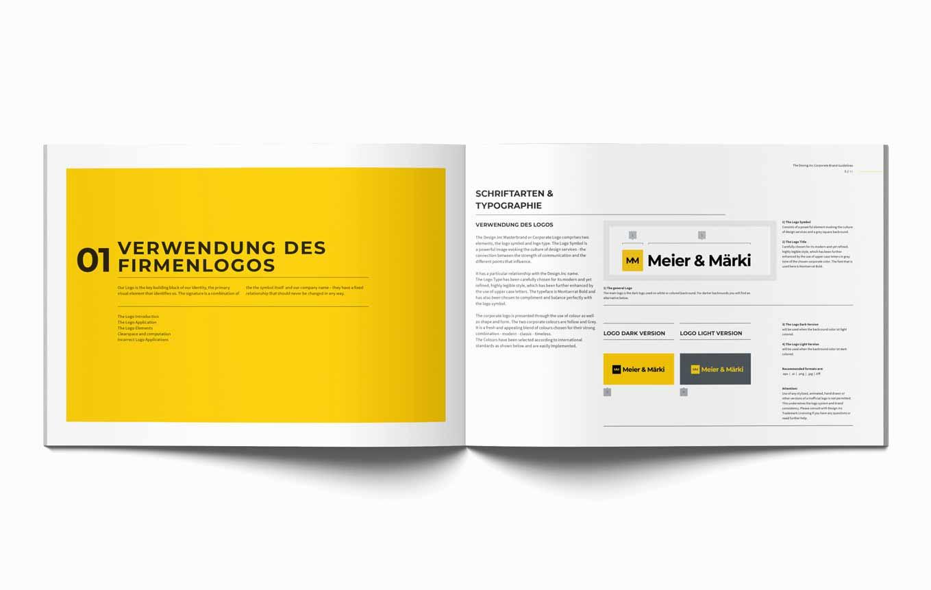 Design Guide Branding Anwaltskanzlei Schweiz