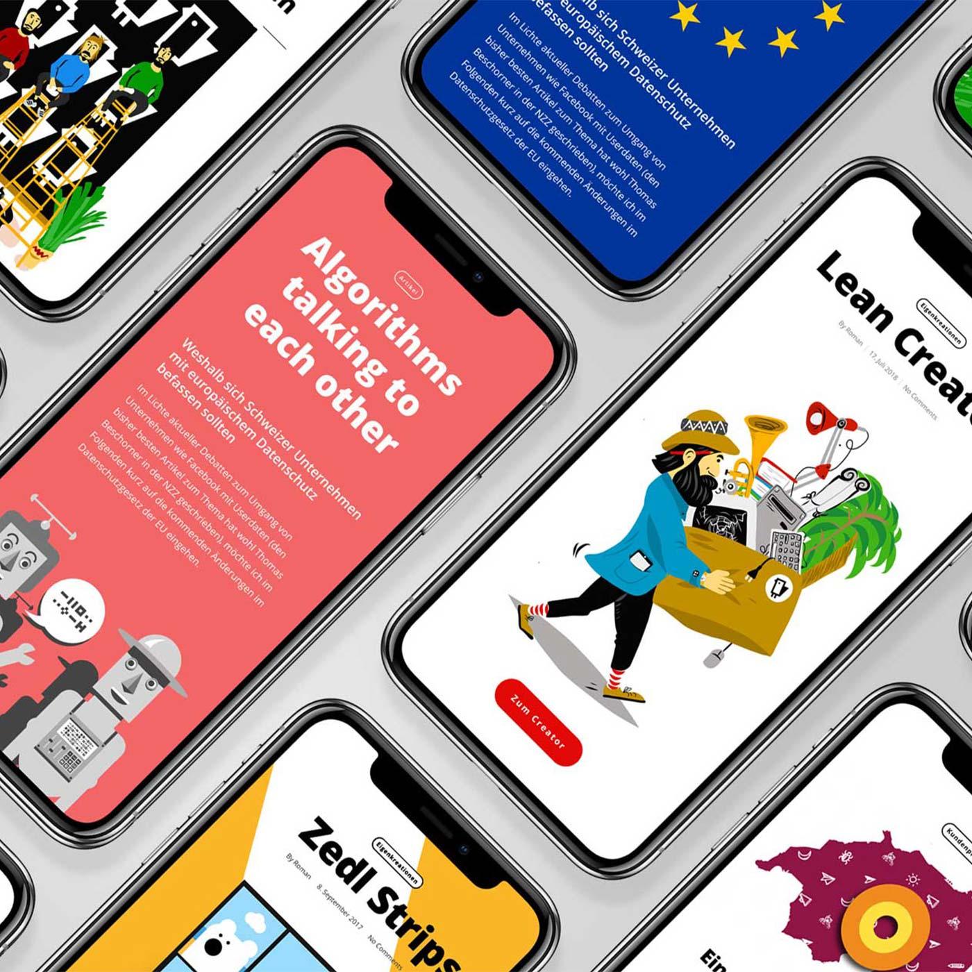 Illustrations IT Company Switzerland