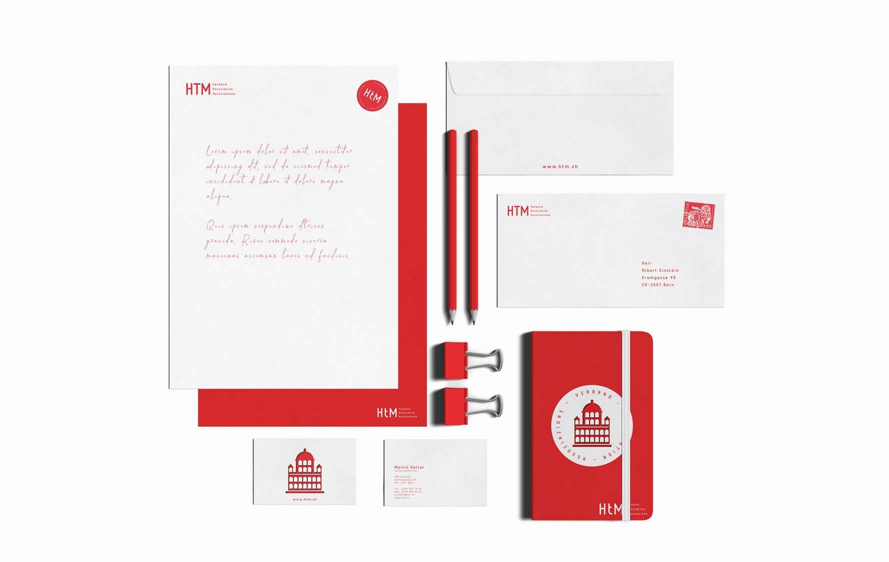 Design Briefschaften, Briefe, Dokumentenvorlagen für Schweizer Verband