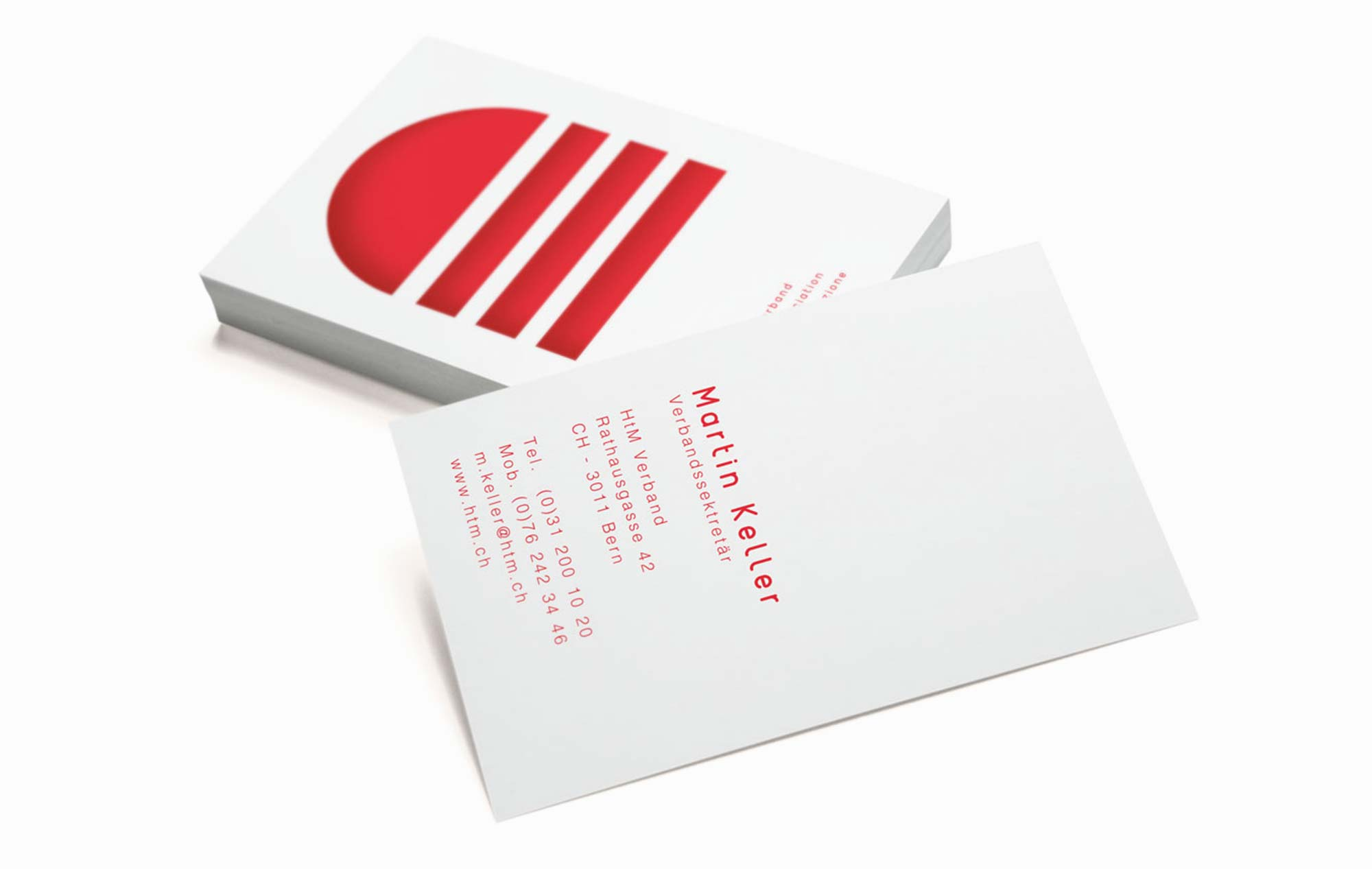 Visitenkarten für Schweizer Verband