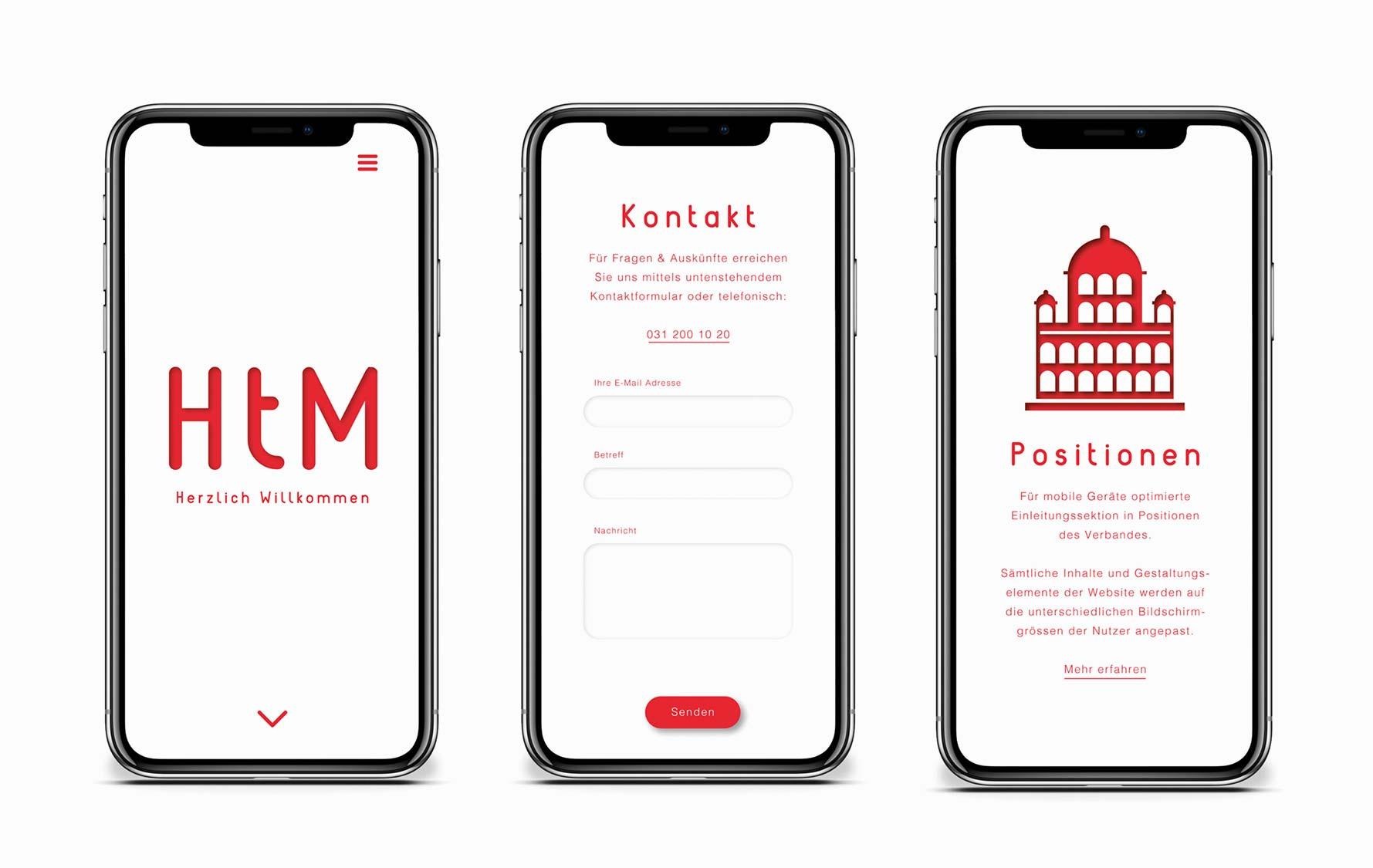 Responsive Webdesign für Schweizer Verband