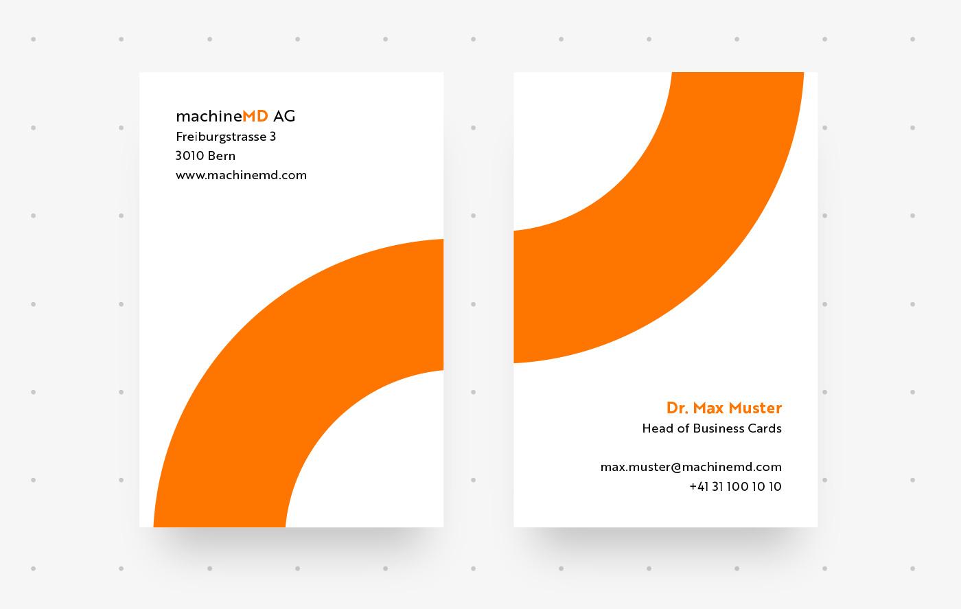 Gestaltung Visitenkarten für Schweizer Start-up