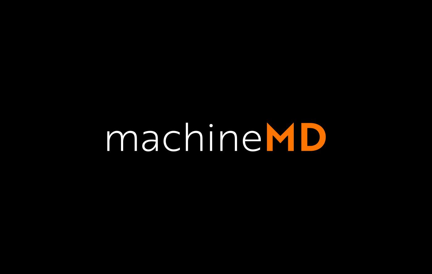 Logo Design auf Schwarz Medtech Start-up Schweiz