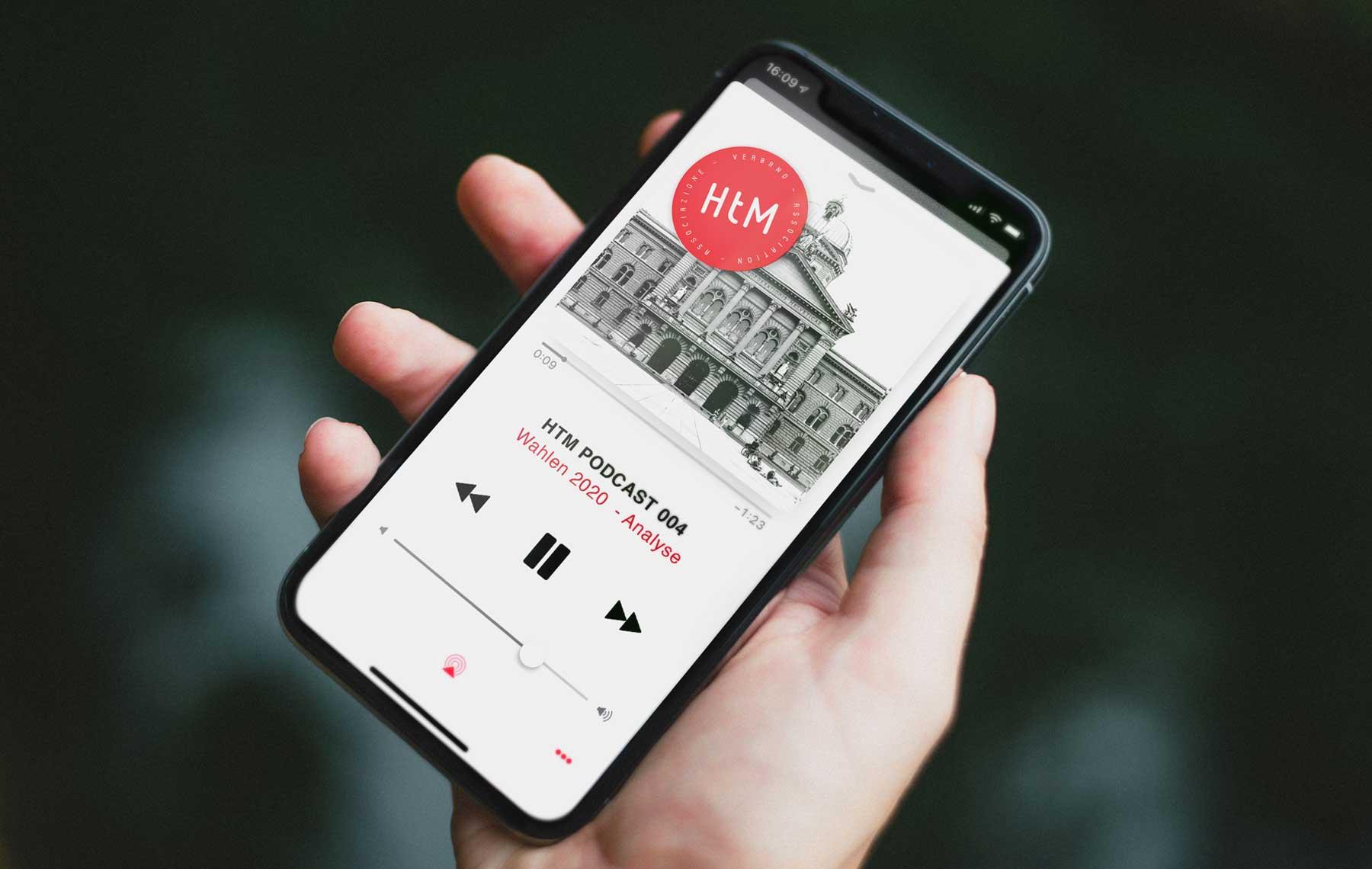 Cover Design für Podcast von Verband Schweiz