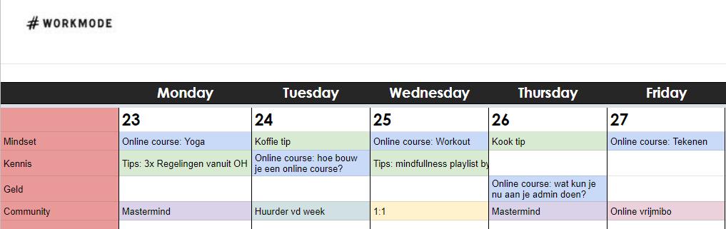 Hashtag Workmode Online Event Calendar