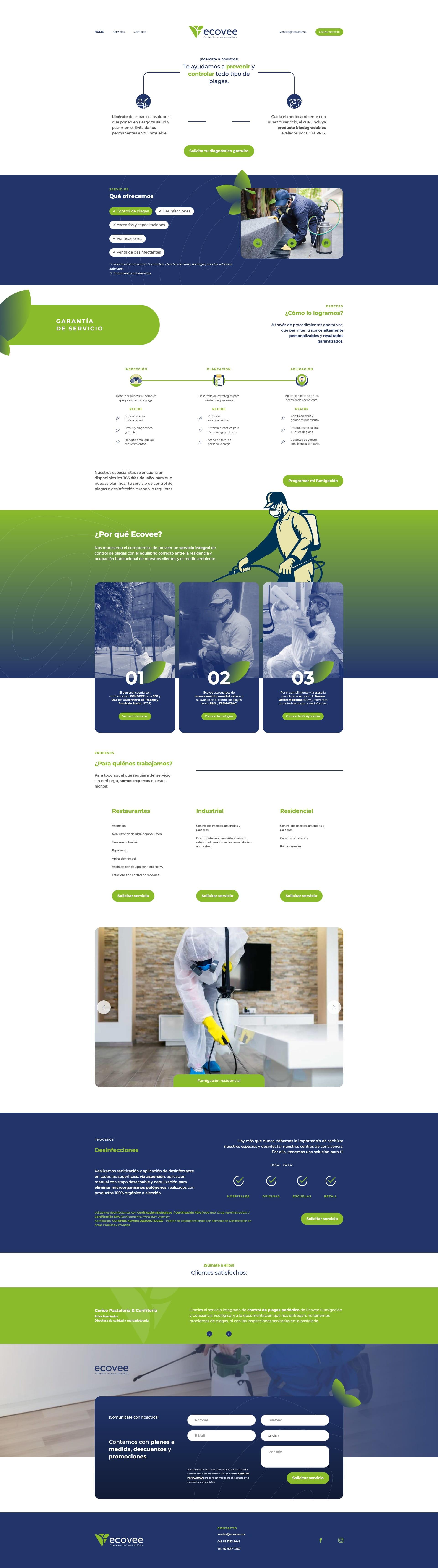 Sitio web Ecovee