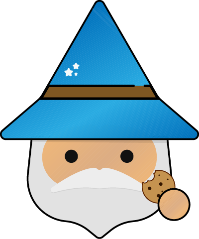 KCS Wizard character eating a cookie