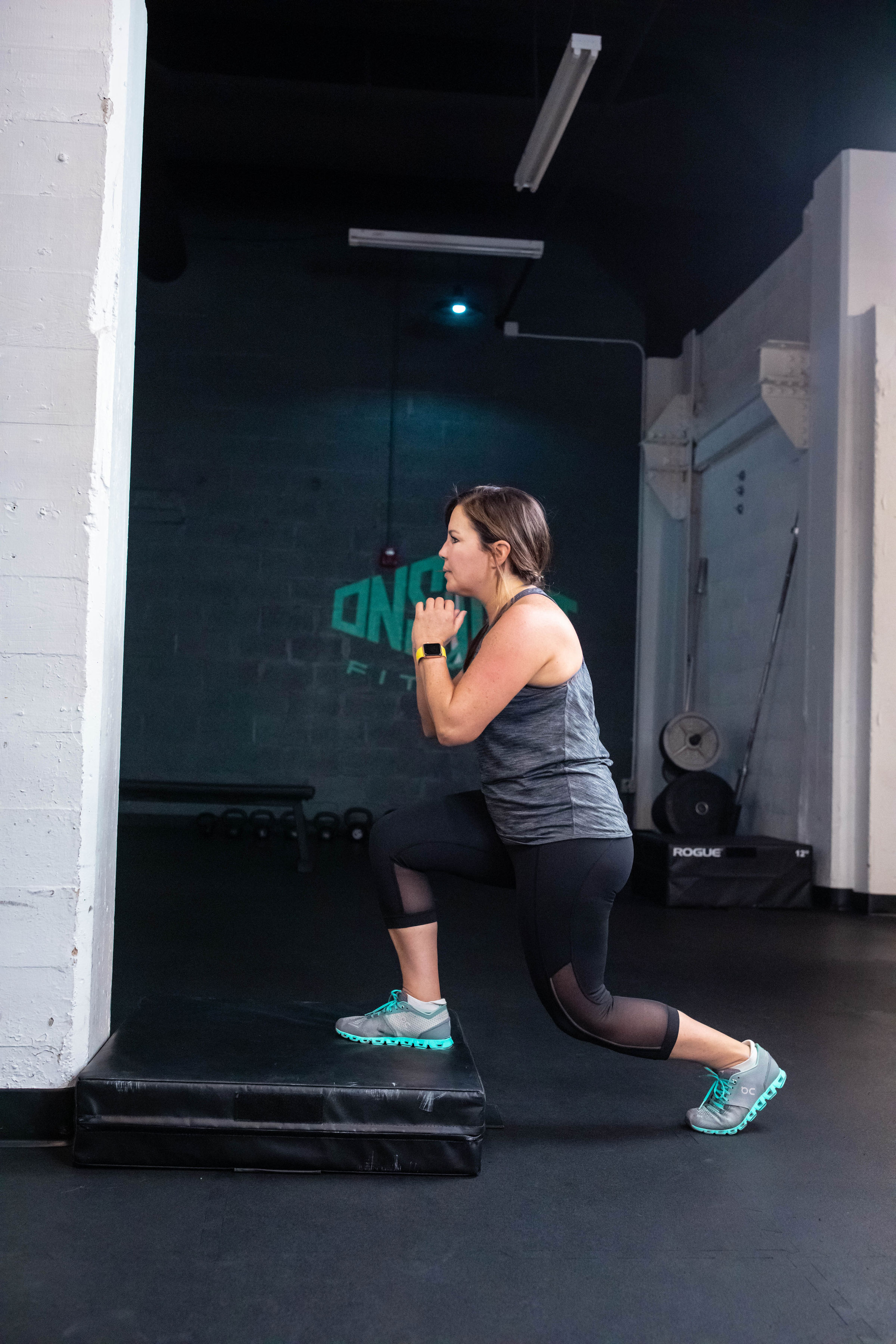 This is a picture of a client exercising.