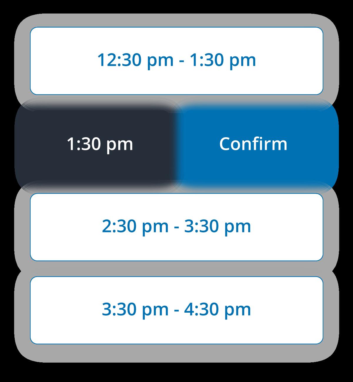 Sample class time selector
