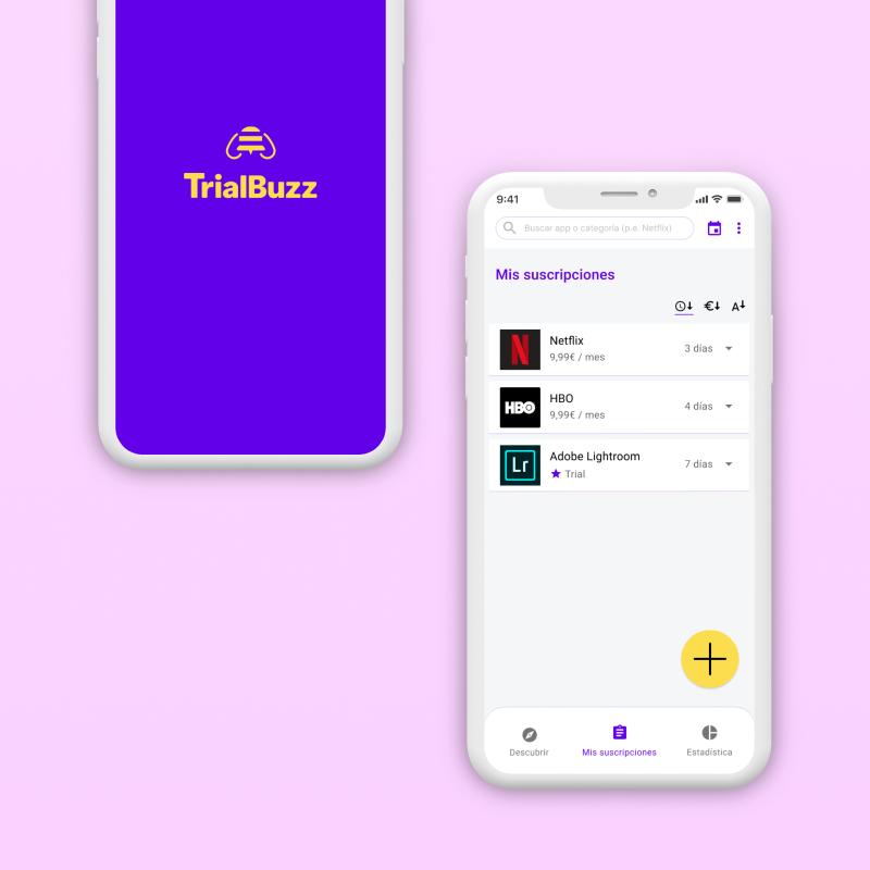 Portfolio Trialbuzz app UX/UI