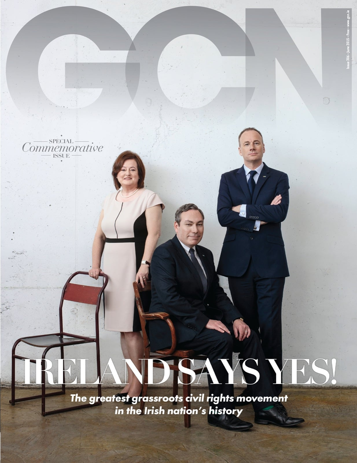 Some of GCN's covers from 2009 with 3 of the marriage equality proponents in formal attire on the cover.