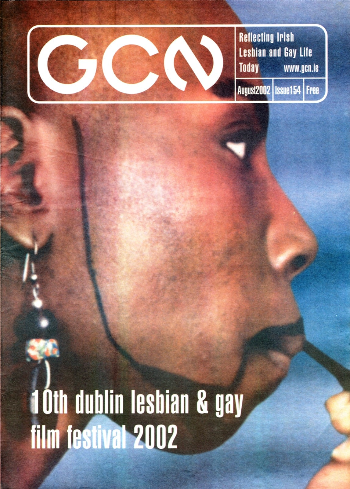 Some of GCN's covers from 1999 with a black woman on the cover in profile view.