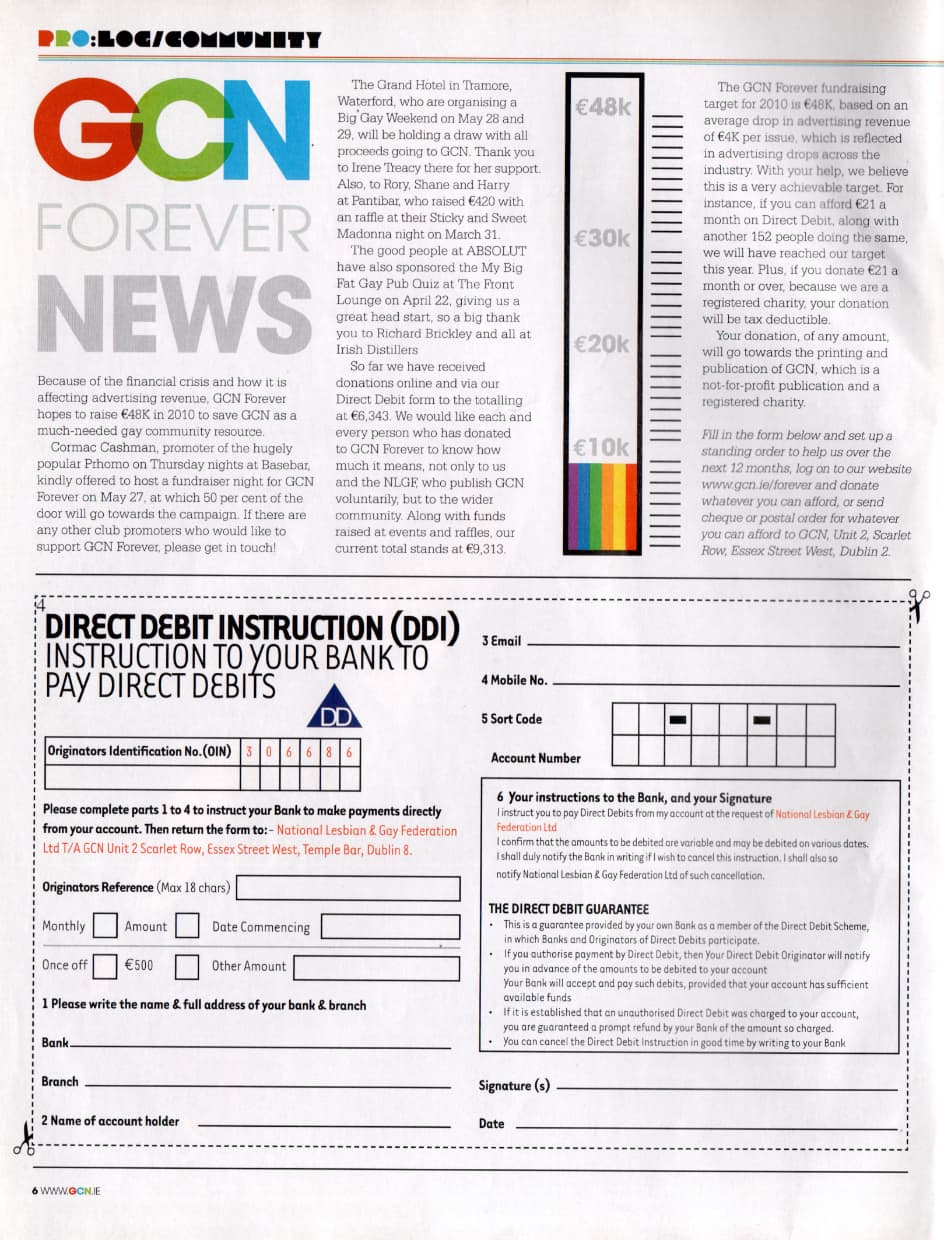 """Taking a look at the history of GCN: from the pages of the magazine, the launch of the """"GCN forever"""" campaign with direct debit instructions to support the magazine."""
