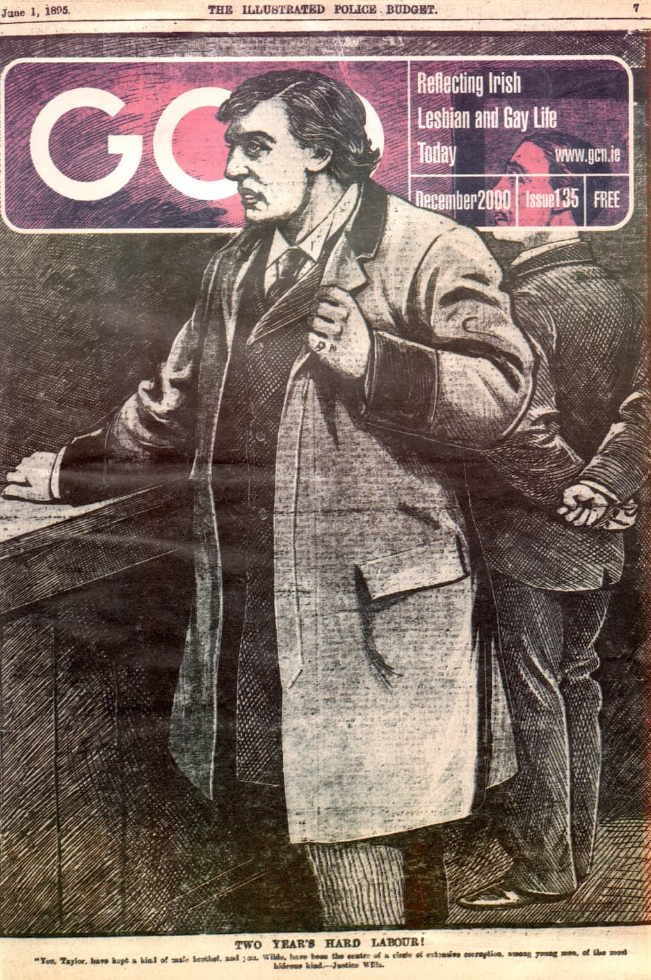 Taking a look at the production process of GCN: Cover of GCN issue 135 featuring illustration of Oscar Wilde.