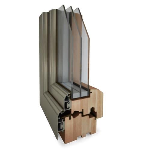 okna aluminiowe drewniane