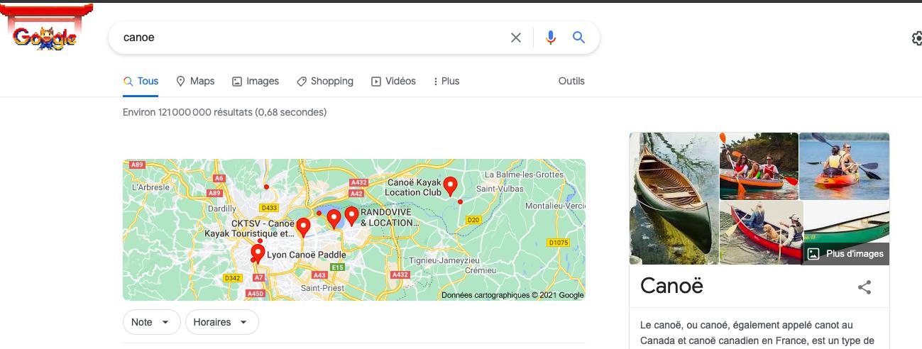 Faute d'orthographe dans la barre de recherche Google
