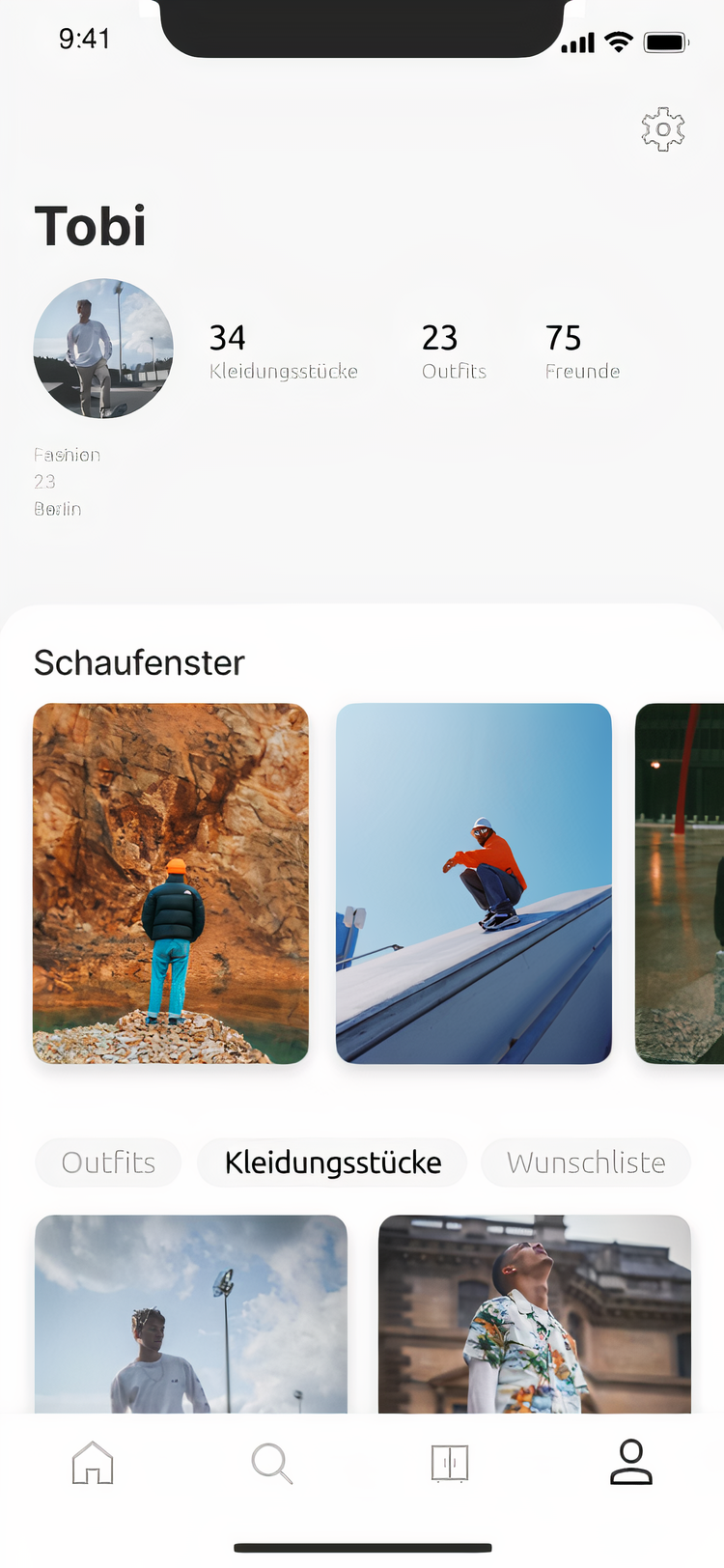 profil screen
