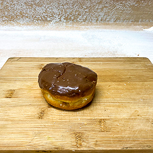 chocolate donut with custard filling donut