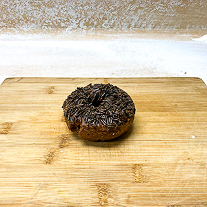 chocolate sprinkle cake donut