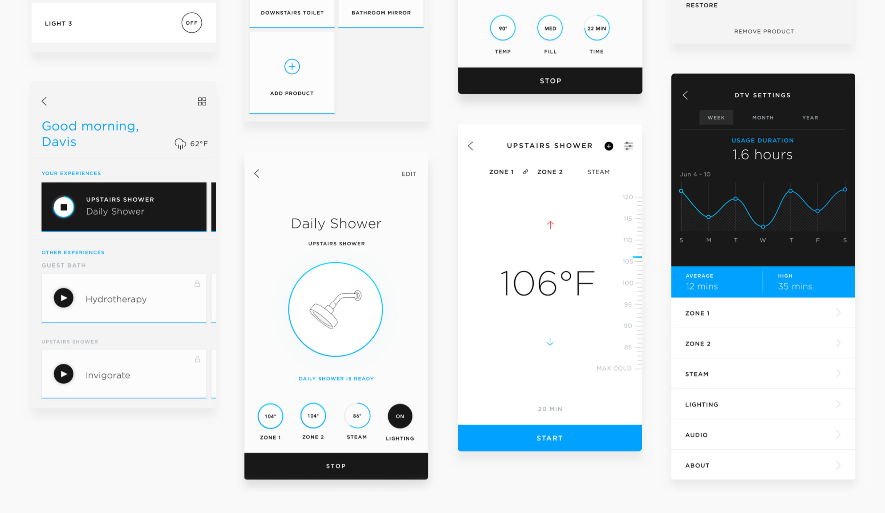 Lockup of screens for a connected home app