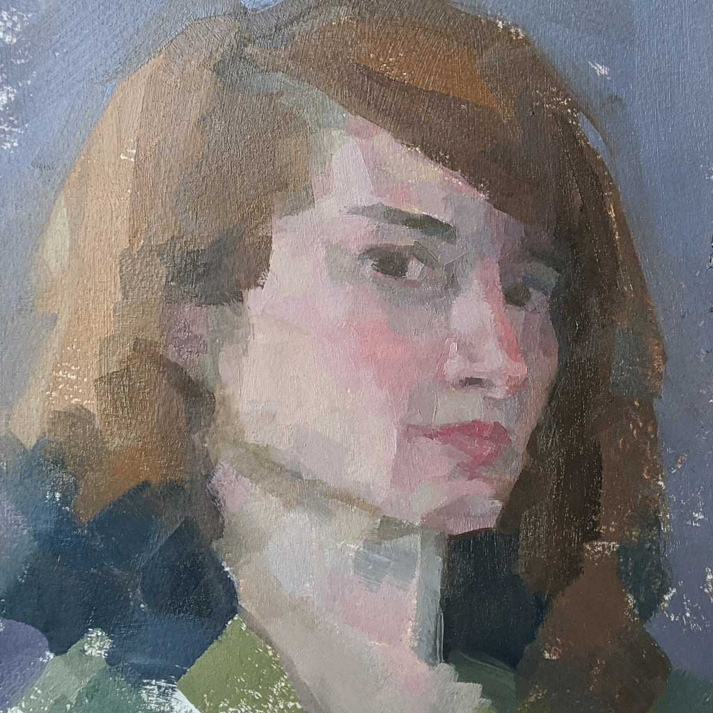 self portrait painted in oils