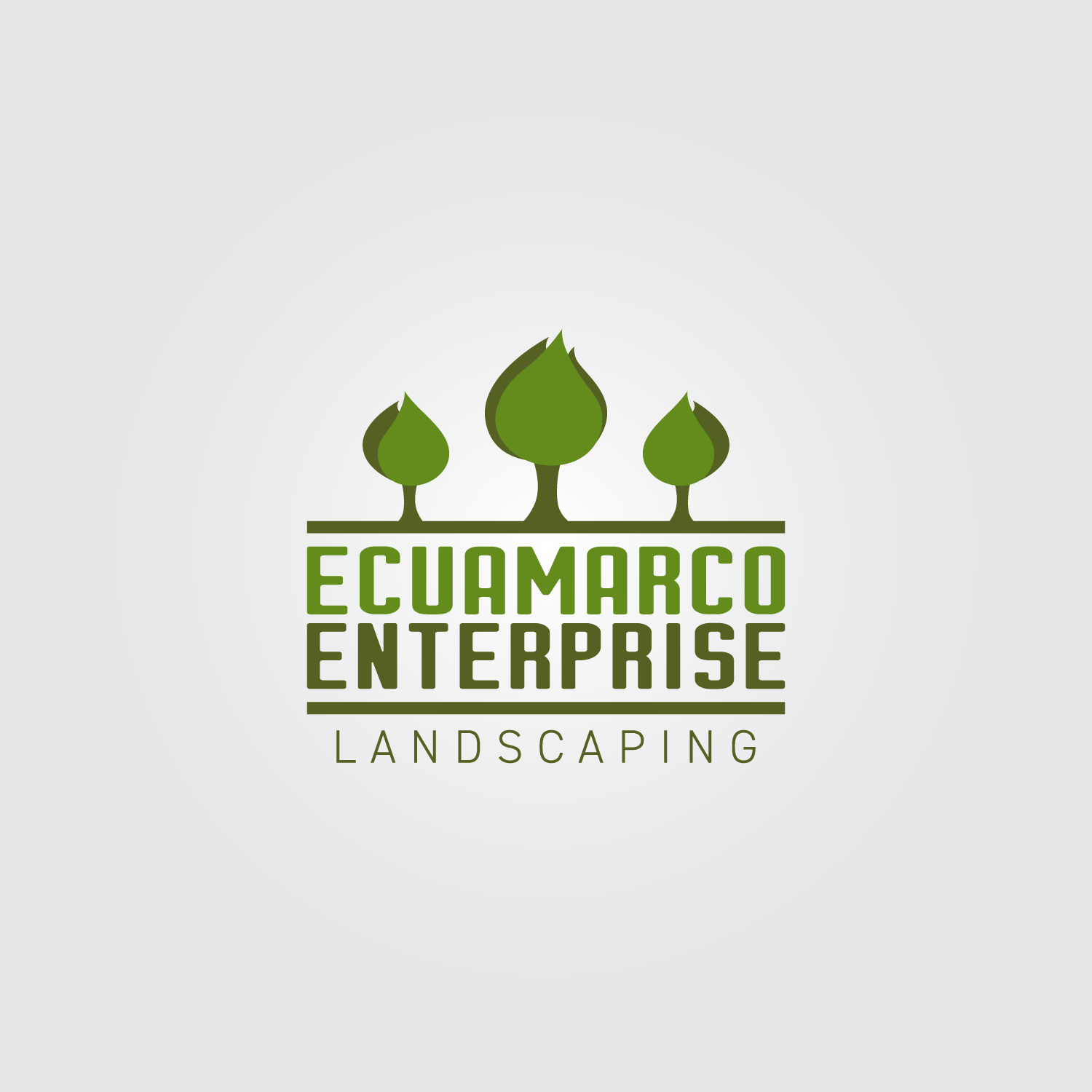 a landscaping business logo
