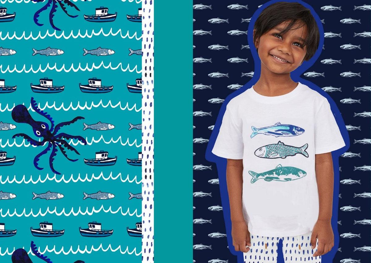 'My Greek Fishing Village' - unisex childrenswear collection
