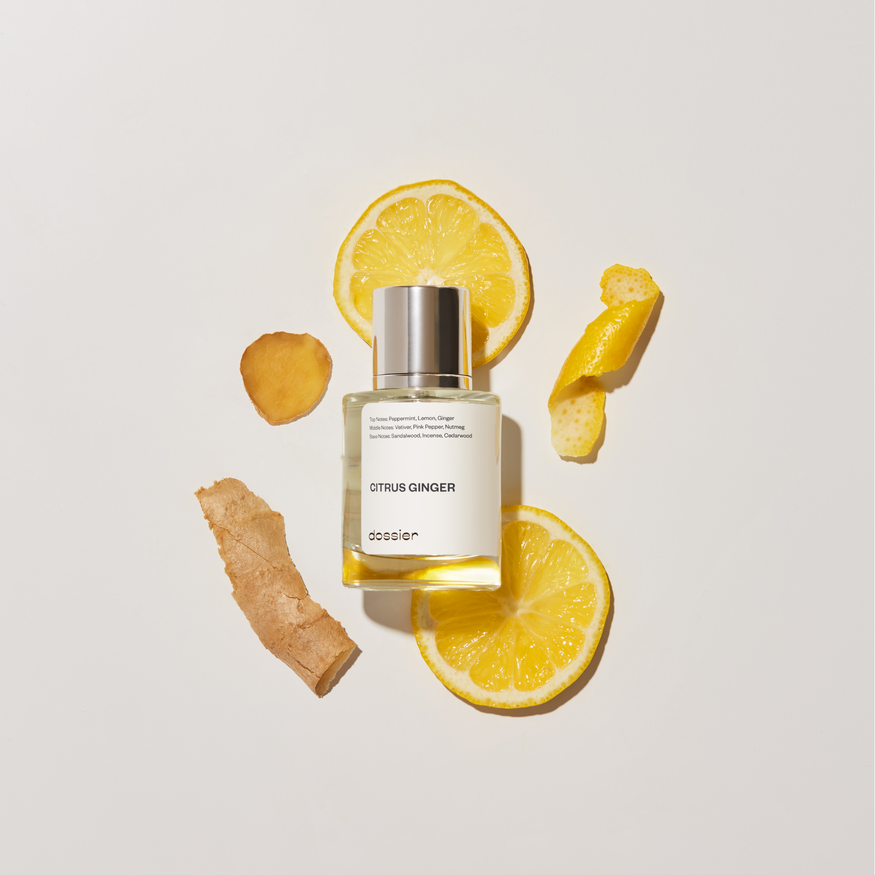 Dossier citrus ginger perfume