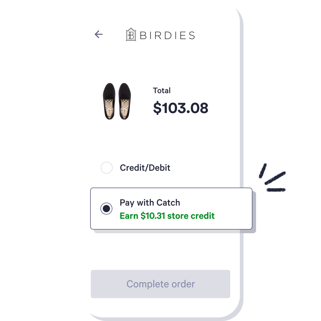 Catch payment method checkout user experience on mobile