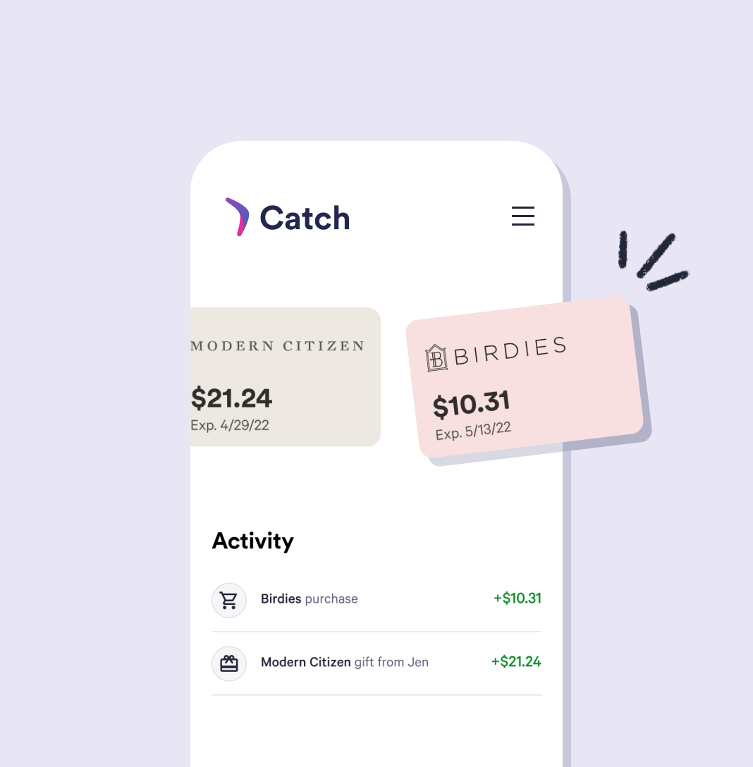 Catch digital wallet with store credit to different brands
