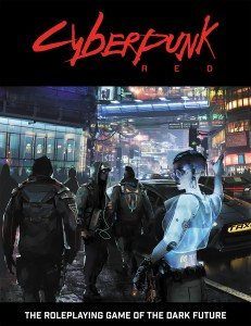 The cover for the Cyberpunk RED core rulebook.