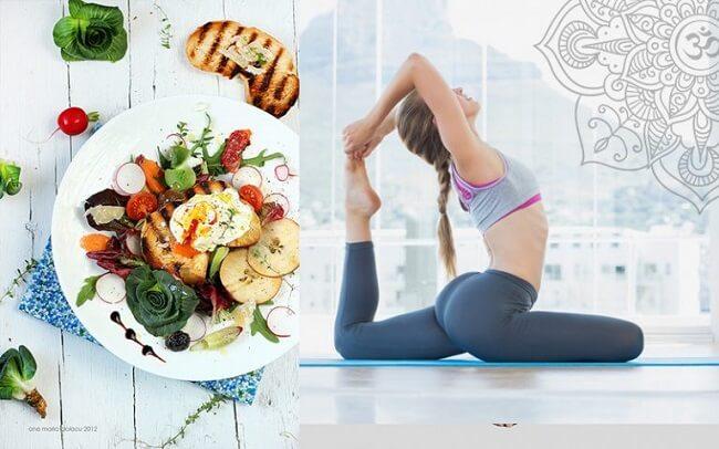 Ăn chay giảm cân là kết hợp rèn luyện thể thao