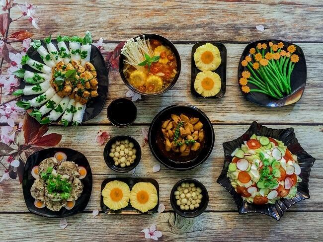 Thực đơn ăn chay đa dạng phong phú